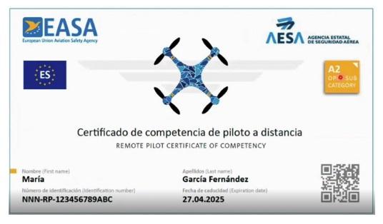 Certificado de competencia de piloto a distancia - AESA - Drones